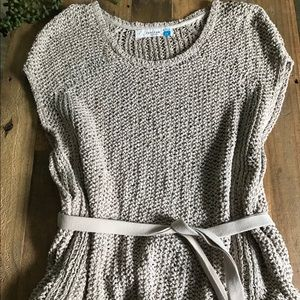 Sparrow Knit Belted Sweater